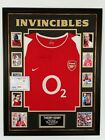 *** Rare Thierry Henry of Arsenal Signed Shirt INVINCIBLES Autograph Display ***