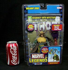 NEW - LOKI w/ LONG HORNS - Marvel Legends Action Figure - ONSLAUGHT Series 2006