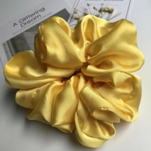 Super Large Size Smooth Satin Headdress Girls Hair Rope Scrunchies Hair Ring