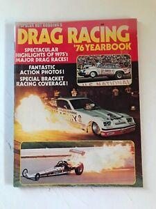 VINTAGE-ORIGINAL-1976-DRAG-RACING-YEARBOOK-MAGAZINE