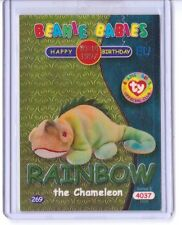 Ty S2 Beanie Card Birthday RAINBOW GREEN EUROPE EUROPEAN VERSION