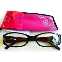 Foster Grant Magnivision Dark Magenta Glasses (m39) Choose Your Strength