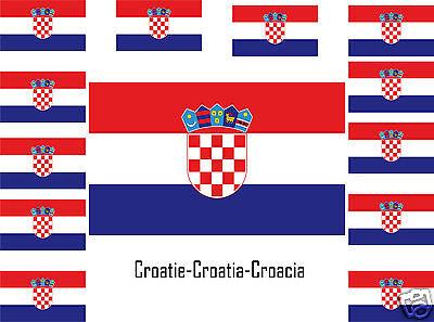 Assortiment lot de 25 autocollants Vinyle stickers drapeau Croatie-Croatia