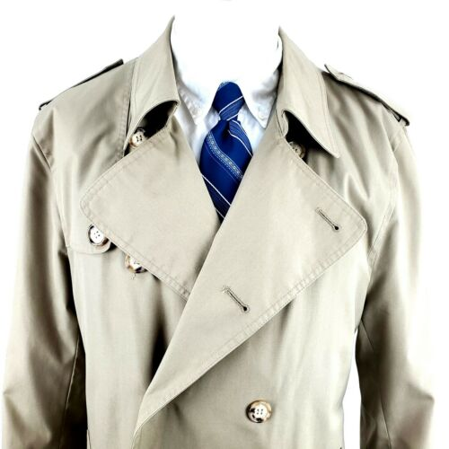 Woodmere 40L Tan Polyester Trench Coat Top Coat