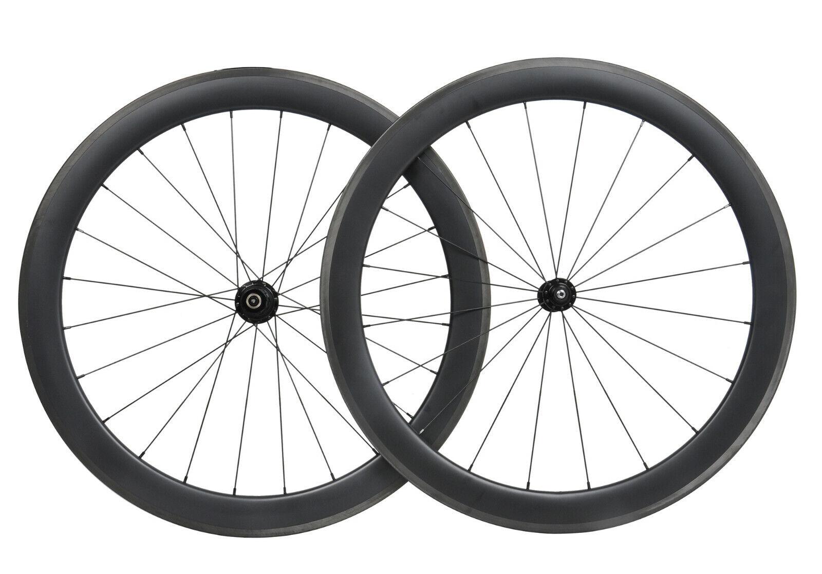 Carbon  wheels clincher 55mm matt road bicycle wheelset 700C Tubeless race rim  beautiful