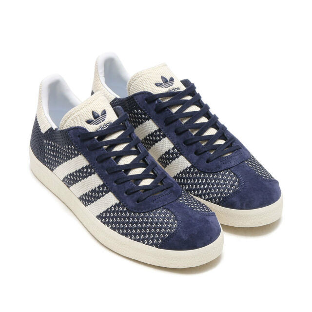 info for 00815 1928d adidas Originals Gazelle Primeknit Men s Shoes Size US 9 Navy White By9779  for sale online   eBay