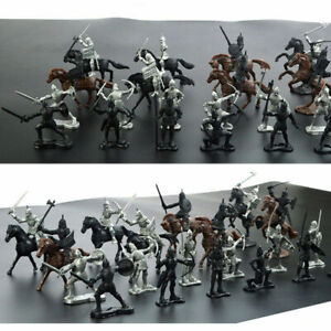 28Pcs-Set-Soldier-Knights-Warriors-Horses-Medieval-Model-Action-Figures-Mini-Toy