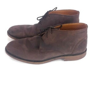 Sebago-Mens-sz-12-Brown-Bryant-Chukka-Lace-Up-Ankle-Boots-Leather-Upper-Shoes