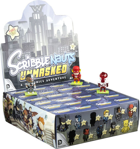 "SCRIBBLENAUTS Unmasked 2"" S2 Blind Box Vinyl Mini Figurines Display 24ct"
