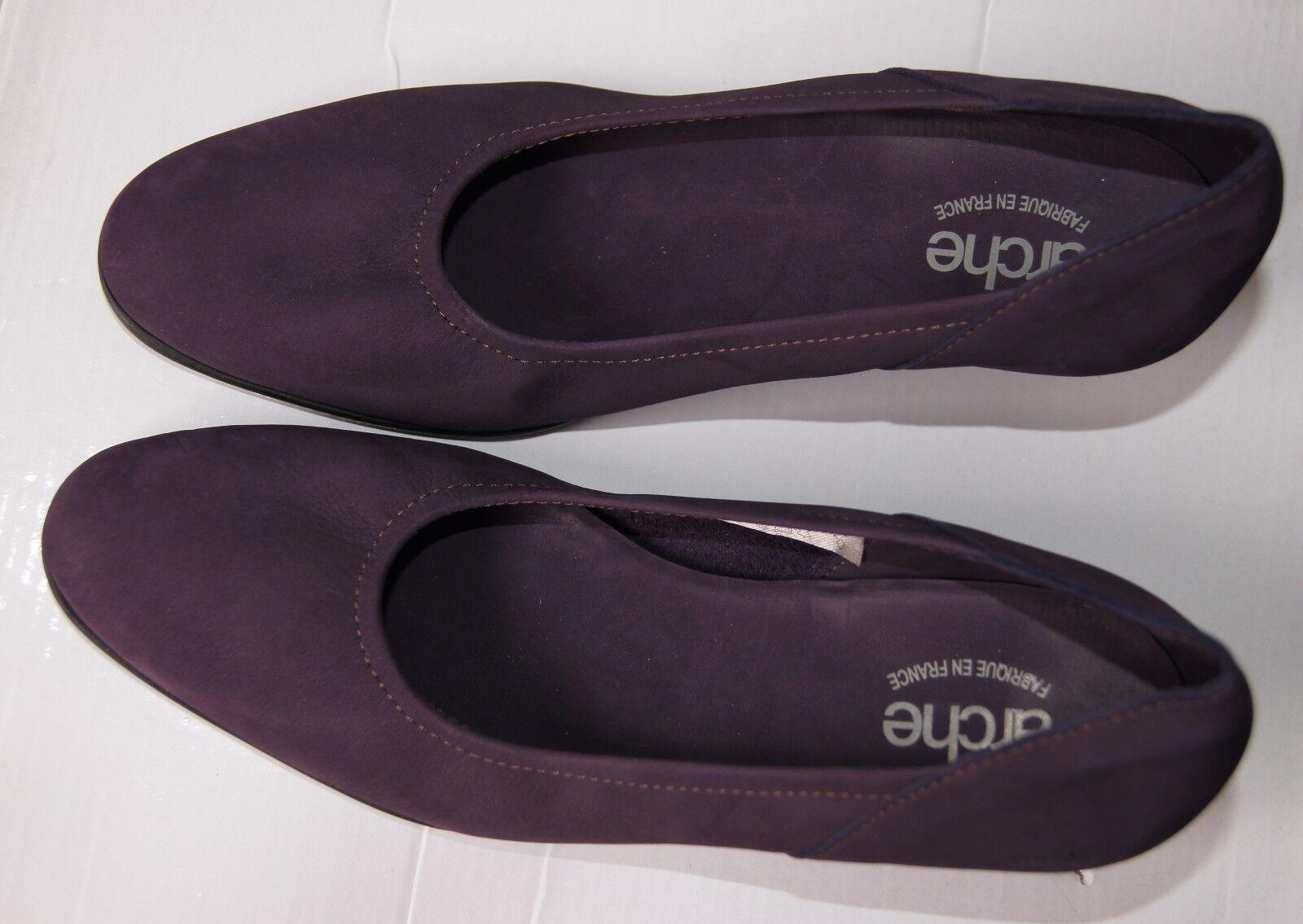 Arche Herys Wedge Court Schuhe Leder In Cassis Nubuck Leder Schuhe bf6221