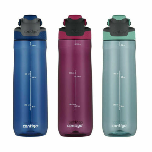 Contigo New Autospout 709 ml Bouteilles d/'eau 3 Pack BPA Free Paille Bouteille 2020