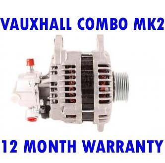 vauxhalll combo tour mk2 mk II 1.7 2001 2002 2003 2004 - 2011 alternator