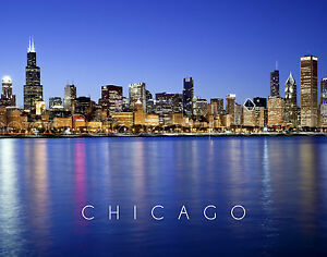CHICAGO Skyline Panoramic HI RES Original Photo 11x14