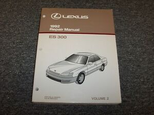 1992 lexus es300 sedan workshop shop service repair manual book vol2 rh ebay com 1995 Lexus ES300 1990 Lexus ES300