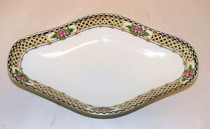 Antique-Bawo-amp-Dotter-Limoges-Celery-Relish-Dish-S-M-Elite-Works-Double-Stamp