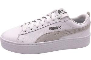 Details zu PUMA Smash Platform L Damen Sneaker Weiß Pateau Schuhe 366487 06 White NEU