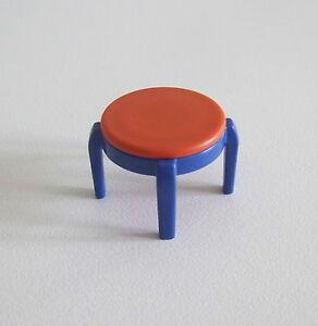 Détails sur PLAYMOBIL (R243) MAISON MODERNE - Tabouret Orange & Bleu pour  Chambre 3964 3967