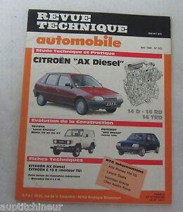 100% Vrai Revue Technique Automobile Rta 503 1989 Citroen Ax Diesel RéSistance Au Froissement