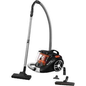 aspirateur sans sac 79db noir/orange - moulinex
