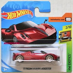 HW Exotics Short Card New Hot Wheels 2018 243//365 17 Pagani Huayra Roadster