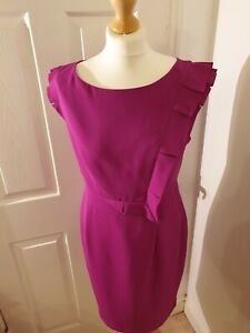 Marks-and-Spencer-Magenta-Special-Occassion-Knee-Length-Dress-Size12