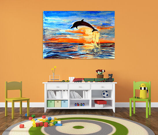 3D Sky Dolphins 563 Fototapeten Wandbild BildTapete AJSTORE DE Lemon