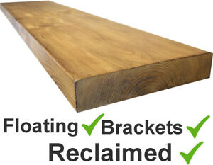 RECLAIMED-Scaffold-Board-rustic-Floating-shelf-shelves-includes-fixture-brackets