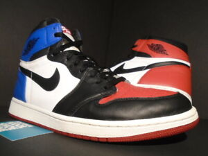 100% authentic e063e 10d3b Details about NIKE AIR JORDAN I RETRO 1 HIGH OG TOP 3 BLACK TOE BRED RED  WHITE ROYAL BLUE 12