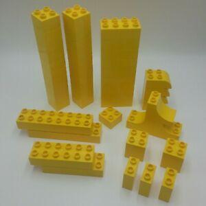 Duplo-Yellow-2x2-2x4-2x3-Curve-2x6-2x8-2x2-Tall-1x2-Tall-2x3-Invert-Curve-Lego