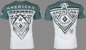 AMERICAN-FIGHTER-Mens-T-Shirt-CROSSROADS-Athletic-BLACK-GREEN-EYE-Biker-40