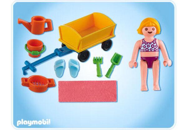 Playmobil 4755 ° Enfant Avec Jeu De Plage ° Complet