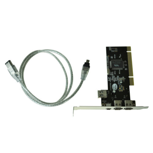 4//6 Pin Cable DT 1 Port Card New PCI FireWire IEEE 1394 3
