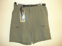 Nwt's Men's Guide Wear Green Nylon Shorts-42/ins.8.5