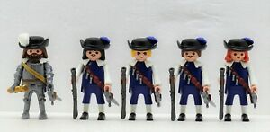 4-Soldats-Hauptmann-Bleu-Brigade-Playmobil-pour-1632-Lutzen-30-Annee-Vieux