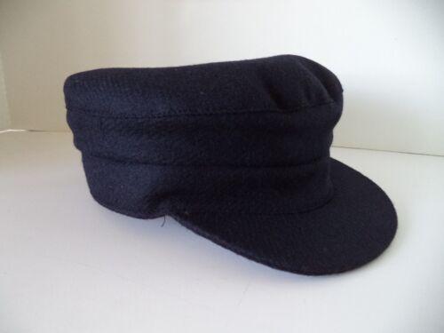 Hanna Hat Navy blue Skippers cap tweed Irish Donegal Fisherman Ireland wool