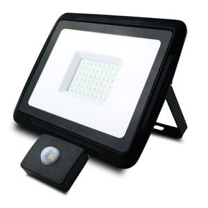 4000-Lumen-LED-Fluter-Strahler-Aussenlampe-Baulampe-Bewegungsmelder-50W-kaltweiss