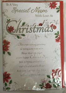 Christmas Card To A Very Special Mam With Love Christmas Greetings