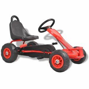vidaXL-Kart-a-Pedales-avec-Pneus-Rouge-avec-Frein-a-Main-pour-Enfants-Voiture