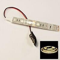Dolls House Rc War Games Led Strip Lights 5050 9v Battery Cool / Warm White