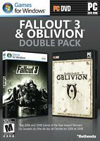 Fallout 3 & Oblivion Double Pack Pc Brand Sealed Fast Shipping