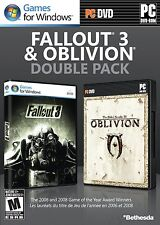 Fallout 3 & Oblivion Double Pack PC Brand New Sealed Fast Shipping