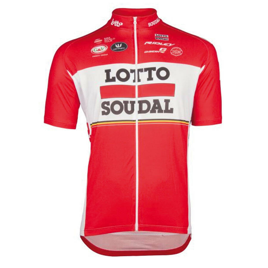 Vermarc Lotto Soudal 2017 Manches Manches Manches Courtes Jersey Rrp £ 69.99 0e4daf