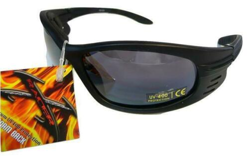Mens  Motorcycle Motorbike Padded Goggles Sunglasses   SE12