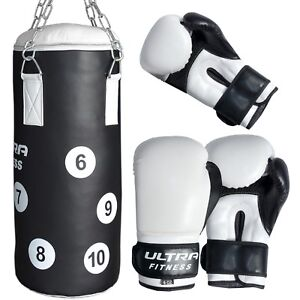 Kids Punch Bag for Boxing Training Filled Heavy Junior Bag with Punching Gloves