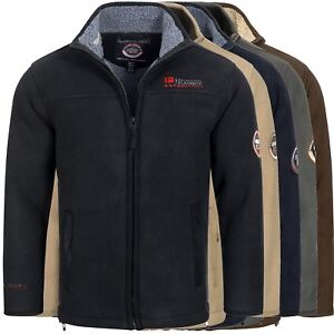 Geographical-Norway-ULMAIRE-Herren-Fleece-Jacke-Fleecejacke-warm-Teddyfellfutter