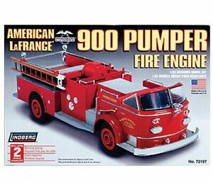 Lindberg-AMERICAN-LAFRANCE-900-SERIES-PUMPER-FIRE-TRUCK-Model-Kit-1-32-New-NIP