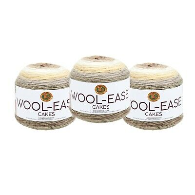 Athena Pack of 3 cakes Lion Brand Yarn 621-207 Wool-Ease Cakes