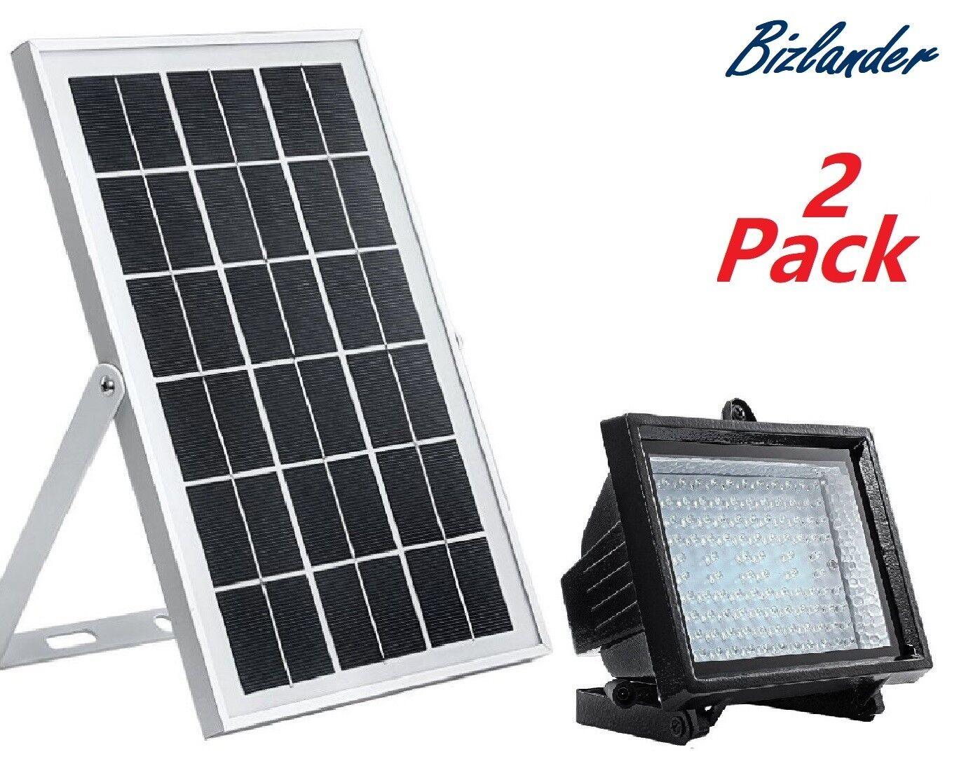 2 Pack Bizlander 108 LED Solar Powerot Flood Light for Commercial grade for HIZA