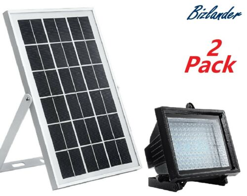 Lot de 2 Bizlander 108 DEL solaire alimenté Flood Light For Commercial Grade