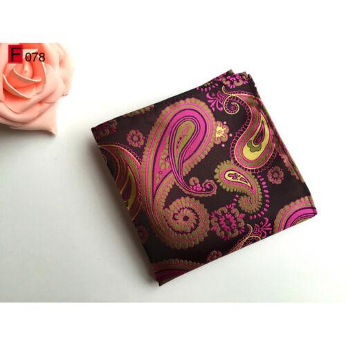 Men Gorgeous Paisley Floral Silk Tie Handkerchief Pocket Square Set Lot HZ118